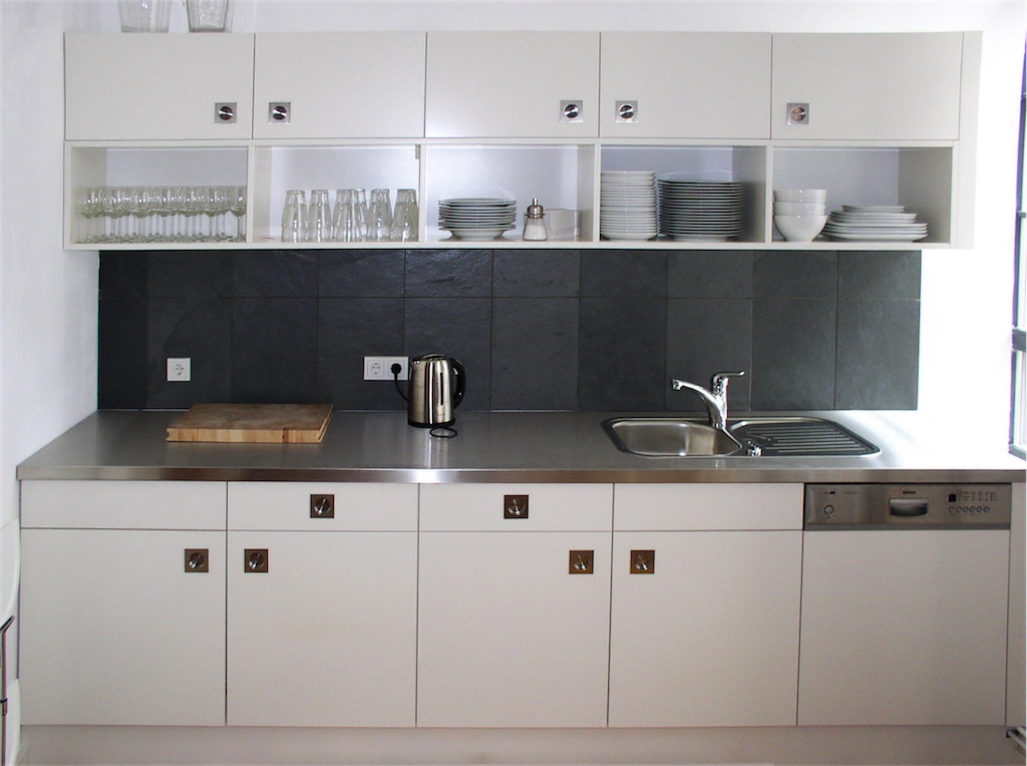 Küche und Arbeitsplatte